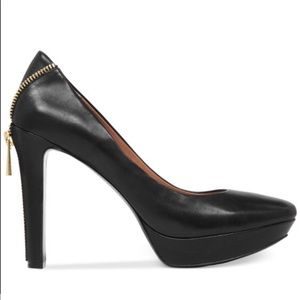 Vince Camuto Saxon Zipper Back Platform Black Pump